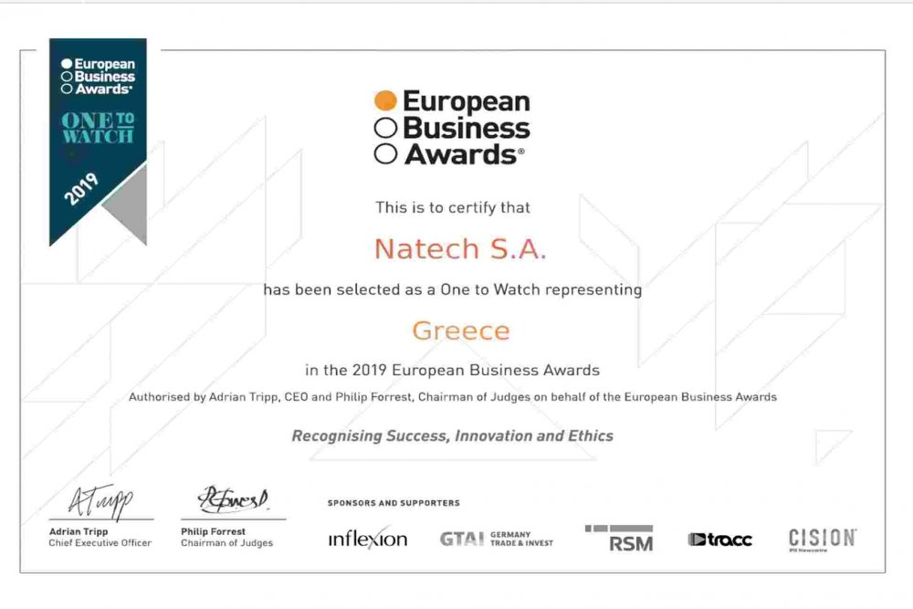 Η Natech στα European Business Awards 2019!